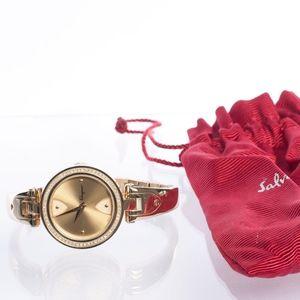Auth SALVATORE FERRAGAMO Giglio Diamond Watch